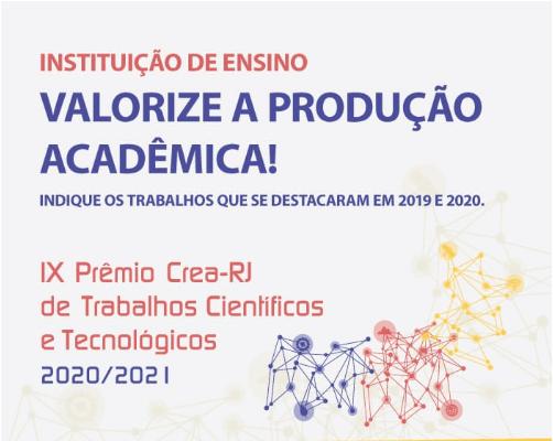 IX Prêmio CREA-RJ de trabalhos científicos e tecnológicos 2020/2021
