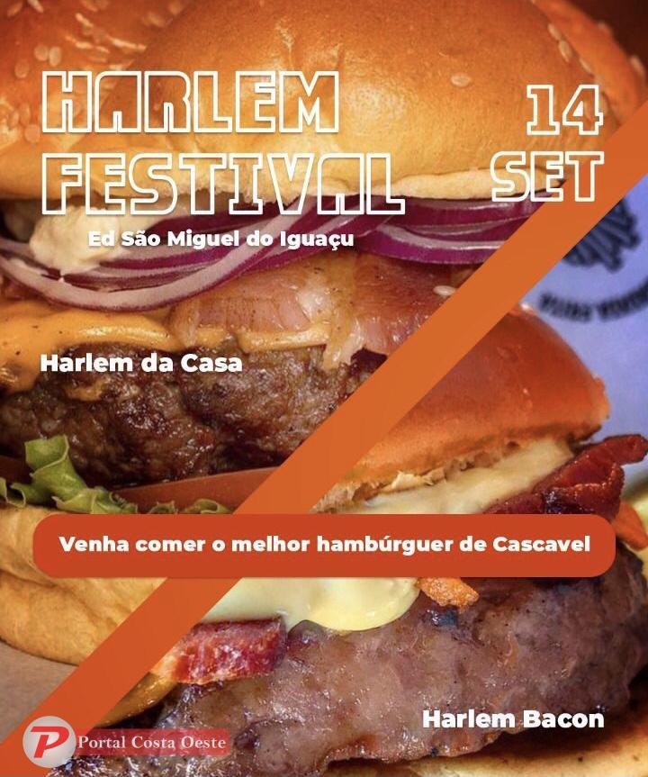 Harlem Festival traz o melhor hambúrguer de Cascavel para São Miguel, nesta terça-feira (14)