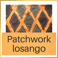 projeto losango em patchwork