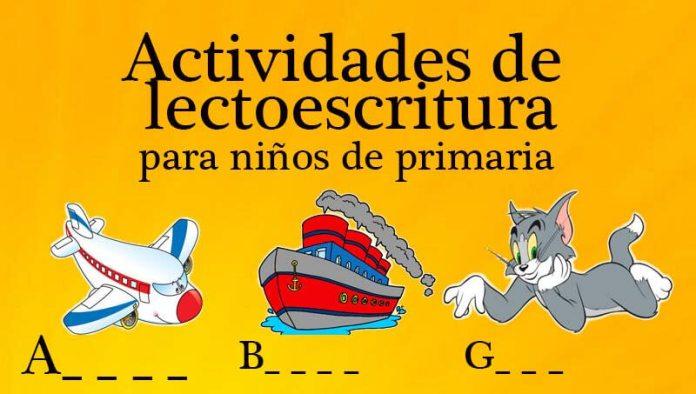 Actividades de lectoescritura para niños de primaria
