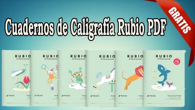 Cuadernos de Caligrafía Rubio PDF