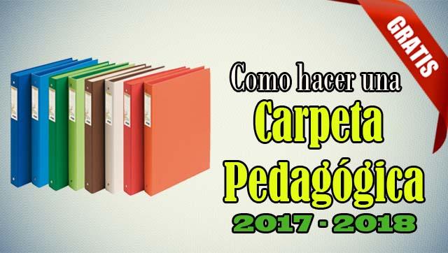 Carpeta Pedagógica 2017 – 2018