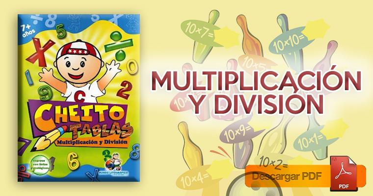 Cheito Tablas – Ejercicios de tablas de multiplicar, multiplicación y división (PDF)