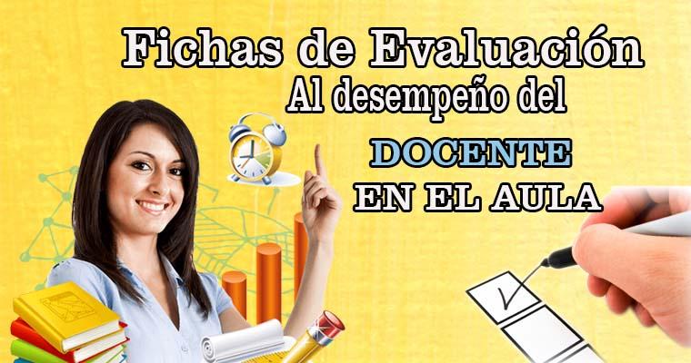 Ficha de Evaluación del desempeño del docente en clases