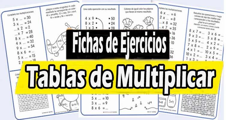 Fichas de ejercicios de las Tablas de Multiplicar