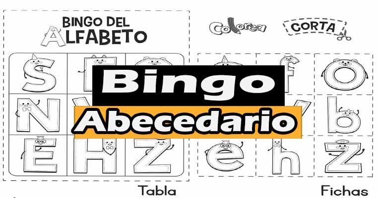 Bingo de Abecedario para Imprimir Gratis