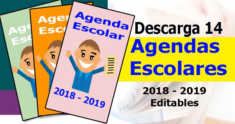 14 Agendas Escolares Editables 2018 – 2019