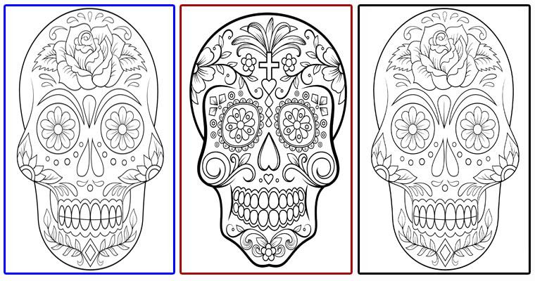 Dibujos De Calaveras De Día De Muertos Para Imprimir Portal De