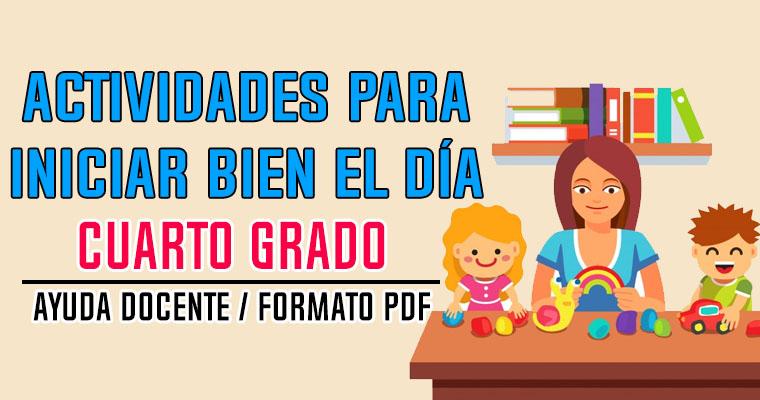 Actividades para Iniciar Bien el Día – Cuarto Grado - Portal de ...