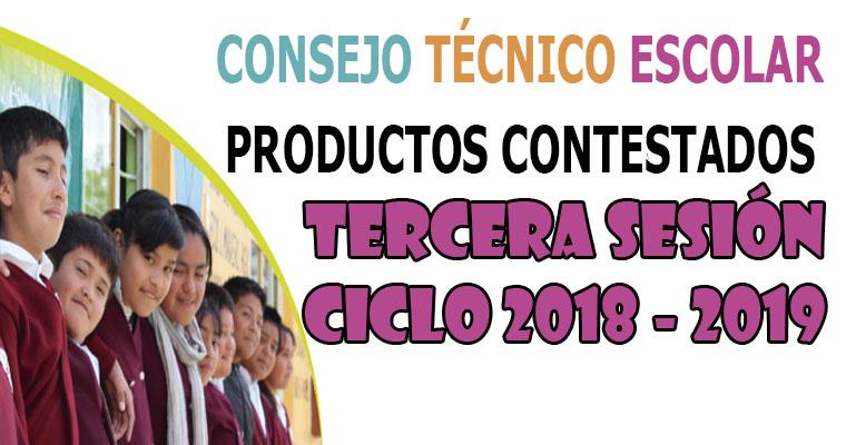 Productos Contestados de la Tercera Sesión del Consejo Técnico Escolar