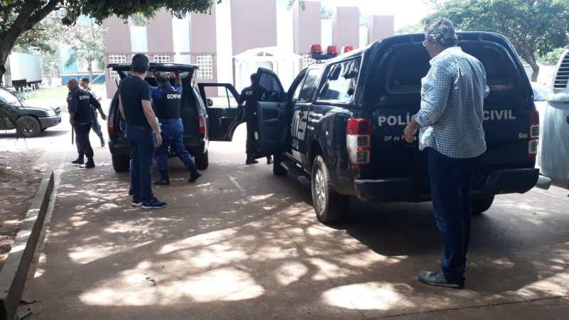 POLÍCIA CIVIL DE PONTA PORÃ E A GUARDA CIVIL MUNICIPAL DE FRONTEIRA ATUAM EM AÇÃO INTEGRADA NA ESCOLTA E TRANSPORTE DE PRESOS