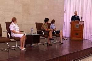 Encontro com as três oficiais mais antigas das Forças Armadas