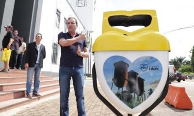 Prefeito Hildon Chaves inaugura novas lixeiras em Porto Velho