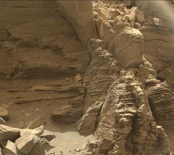 Afloramento em Marte