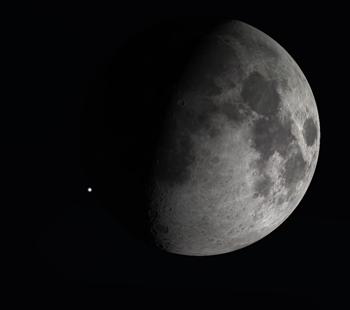 Ocultação iminente de uma estrela pela Lua