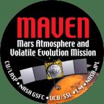 O simbolo da missão MAVEN. Crédito: NASA