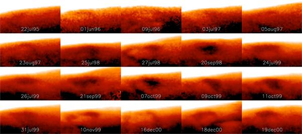 Alterações da Grande Mancha Fria de Júpiter