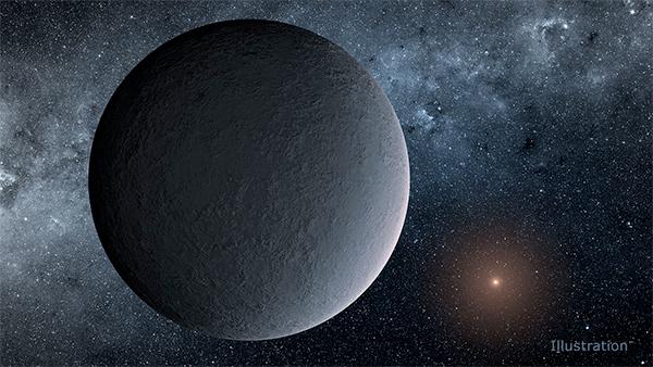 Ilustração do planeta OGLE-2016-BLG-1195Lb