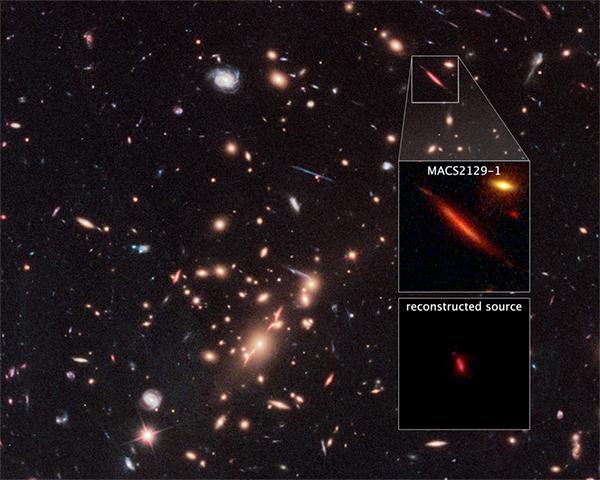 A galáxia MACS2129-1