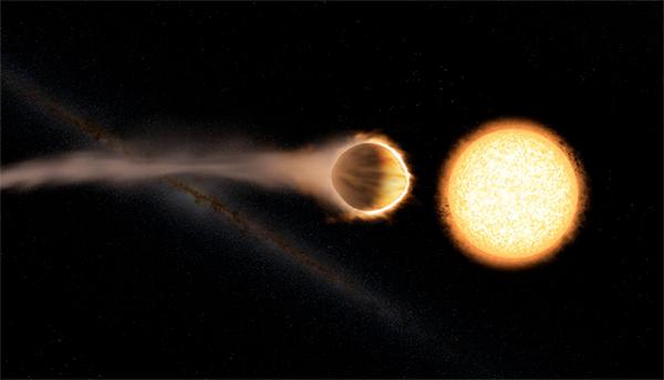 Hubble descobre atmosfera brilhante de água em exoplaneta