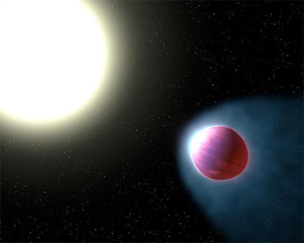 Topo da atmosfera de WASP-121b - ilustração.