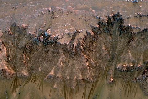 RSLs e a água em Marte