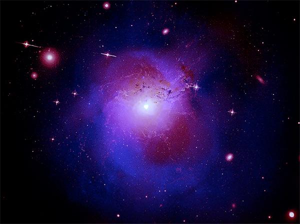 Enxame de galáxia de Perseu.