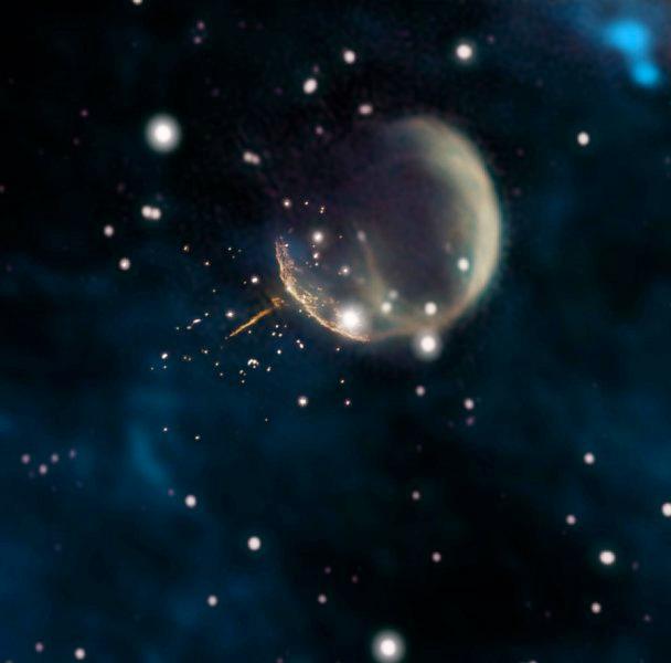 """Astrónomos descobrem """"pulsar bala de canhão"""" a acelerar pelo espaço"""