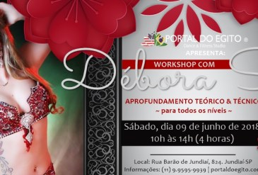 Workshop com Débora Spina – Brasil 2018