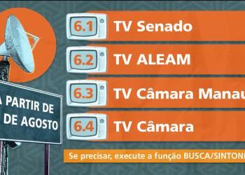TV CÂMARA SERÁ TRANSMITIDA EM NOVO CANAL A PARTIR DE 29 DE AGOSTO