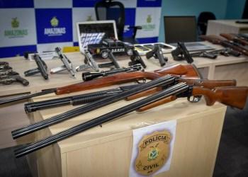 PC  deflagra operação 'Néphila' e recupera 37 armas de fogo, supostamente, roubadas do acervo de coleção de coronel falecido em 2018