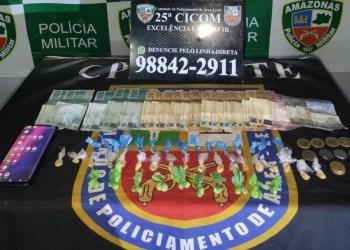 POLÍCIA MILITAR, POR MEIO DA 25ª CICOM, APREENDE ADOLESCENTE POR TRÁFICO DE DROGAS