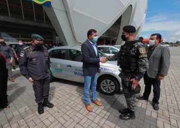 Governador Wilson Lima entrega veículos para renovação da frota das Polícias Civil e Militar