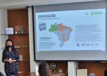 Modelo híbrido de aulas adotado pela Secretaria de Educação é apresentado ao Unicef