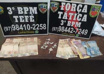 Polícia Militar detém homem com porções de drogas em Tefé