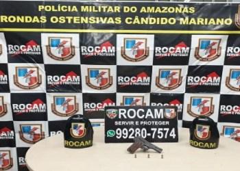 ROCAM DETÉM INFRATOR POR PORTE ILEGAL DE ARMA DE FOGO NA ZONA LESTE DE MANAUS