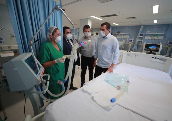 Wilson Lima anuncia abertura de novos leitos no Hospital Getúlio Vargas para pacientes com Covid-19