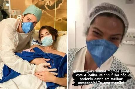 Alok vê a filha recém-nascida na UTI por videochamada com a mãe