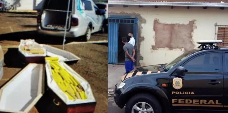 Polícia Federal encontra drogas dentro de caixões com 'vítimas de Covid-19'