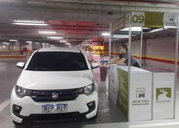 Manauara Shopping funciona com sistema de drive-thru e delivery