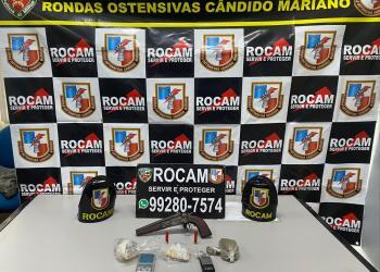 Policiais da Rocam detiveram homem com arma de fogo e entorpecentes