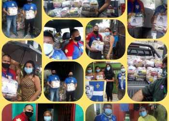 Escoteiros do Brasil arrecadam mais de uma tonelada em alimentos para as famílias vítimas da Covid-19 em Manaus