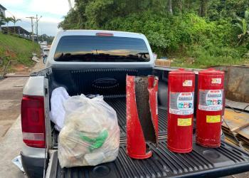 Mais 120 quilos de drogas são encontrados em extintores de incêndio de balsa apreendida pela SSP-AM