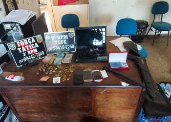 Em Tefé, Polícia Militar apreende arma de fogo e recupera materiais furtados