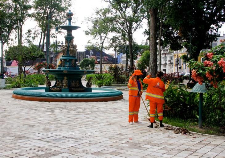 Prefeitura inicia revitalização em mais uma praça pública no Centro de Manaus