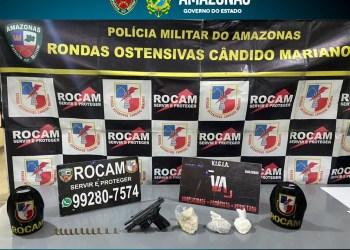 'Operação Hórus': Homem com pistola e drogas é detido pela PM em Tabatinga