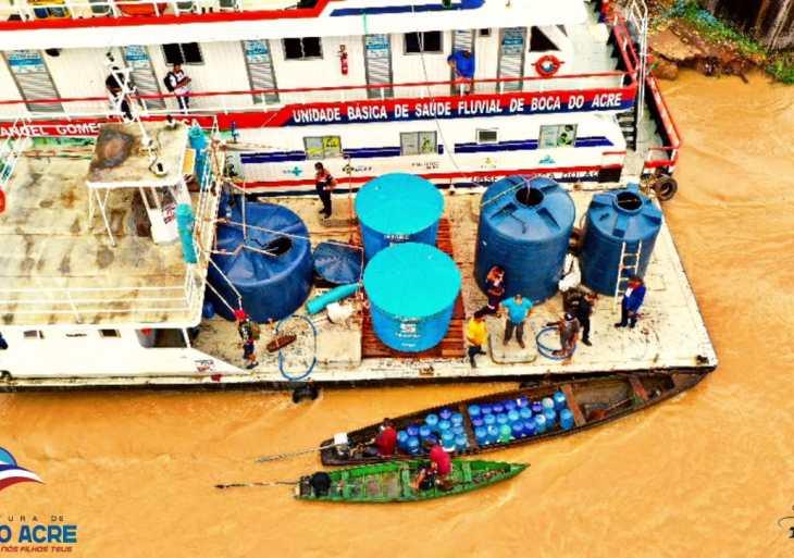 Defesa Civil do Estado envia reforço para abastecimento de água potável em Anamã
