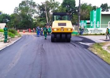 Governo do Amazonas executa obras do Novo Sistema Viário do Rio Preto da Eva
