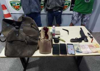 Polícia Militar detém três indivíduos após roubo na zona norte