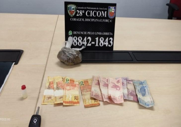 PM prende casal após tentativa de fuga por posse de drogas na zona leste